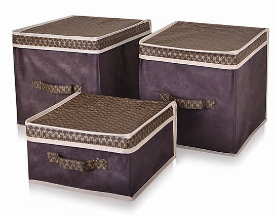 Короб для хранения вещей Brown 30*40*16 см, Design Line (Украина) 4603, фото 2