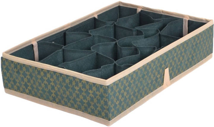 Органайзер для мелких вещей на 16 ячеек Gold Green, Design Line (Украина), фото 2