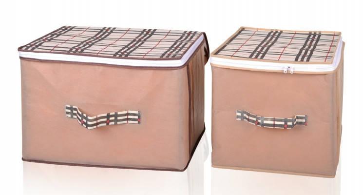 Чехол с мягкими стенками для хранения вещей Beige 40*30*30 см, Design Line (Украина) 4410, фото 2