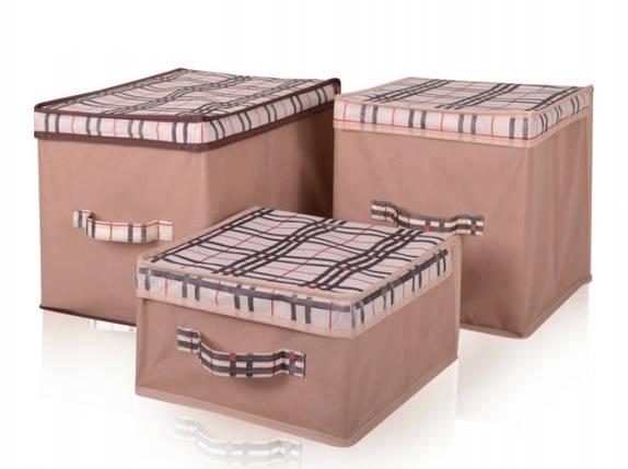 Короб для хранения вещей Beige 43*33*30 см, Design Line (Украина) 4417, фото 2