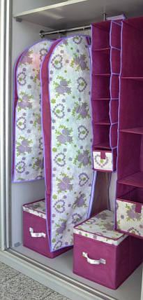 Чехол для объемной одежды 8*60*100 см Bordo, Design Line (Украина), фото 2