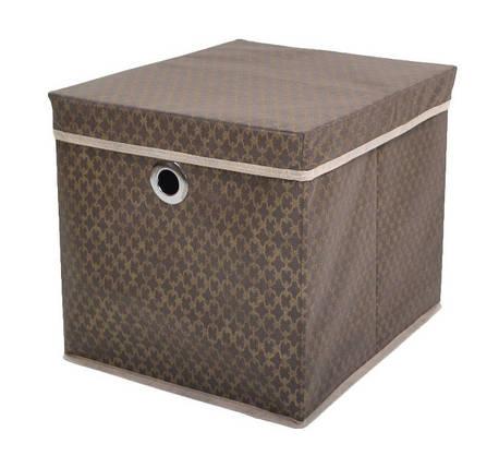 """Коробка для хранения вещей """"Золотой узор"""" 37*31,5*31,5 см, Design Line (Украина), фото 2"""