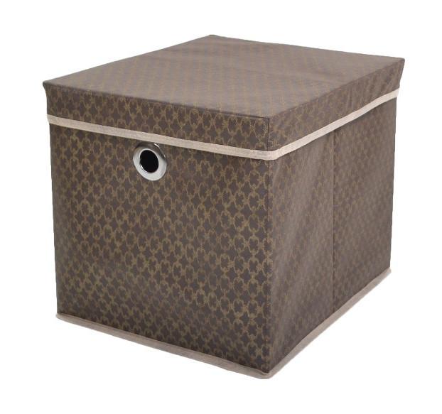"""Коробка для хранения вещей """"Золотой узор"""" 37*31,5*31,5 см, Design Line (Украина)"""