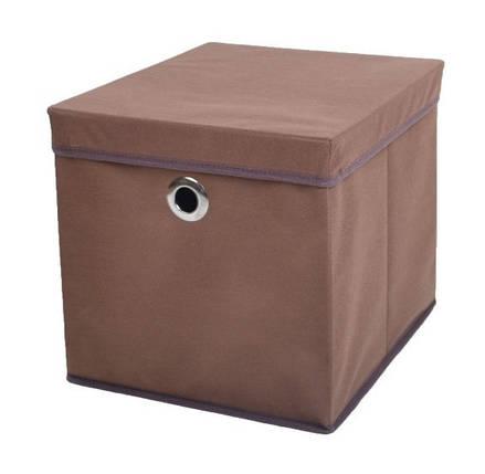 Коробка для хранения вещей 37*31,5*31,5 см коричневая, Design Line (Украина), фото 2