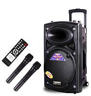 Портативная активная колонка DP-297BT (USB/Bluetooth/Радиомикрофоны)