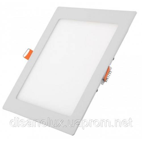 Светодиодный светильник LED панель 18W  6500К 220в  (квадрат)
