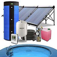 Гелиосистема подогрева бассейна 60-70 куб.м. и горячего водоснабжения на 300 литров