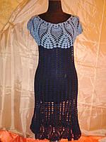 Вязанное женское платье 46-48 р-р