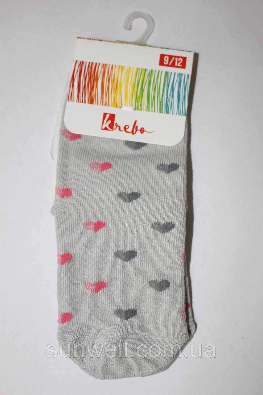 Дитячі шкарпетки для дівчаток Krebo, Польща р-р 9-12