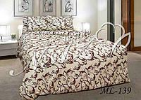 Красивое постельное белье кофейного цвета бязь евро