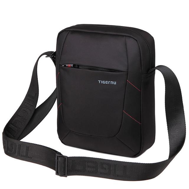 сумка месенджер планшетка барсетка мужская из водостойкого нейлона с отделением под планшет Тigernu