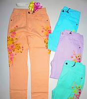 Яркие коттоновые брюки для девочек 134/164