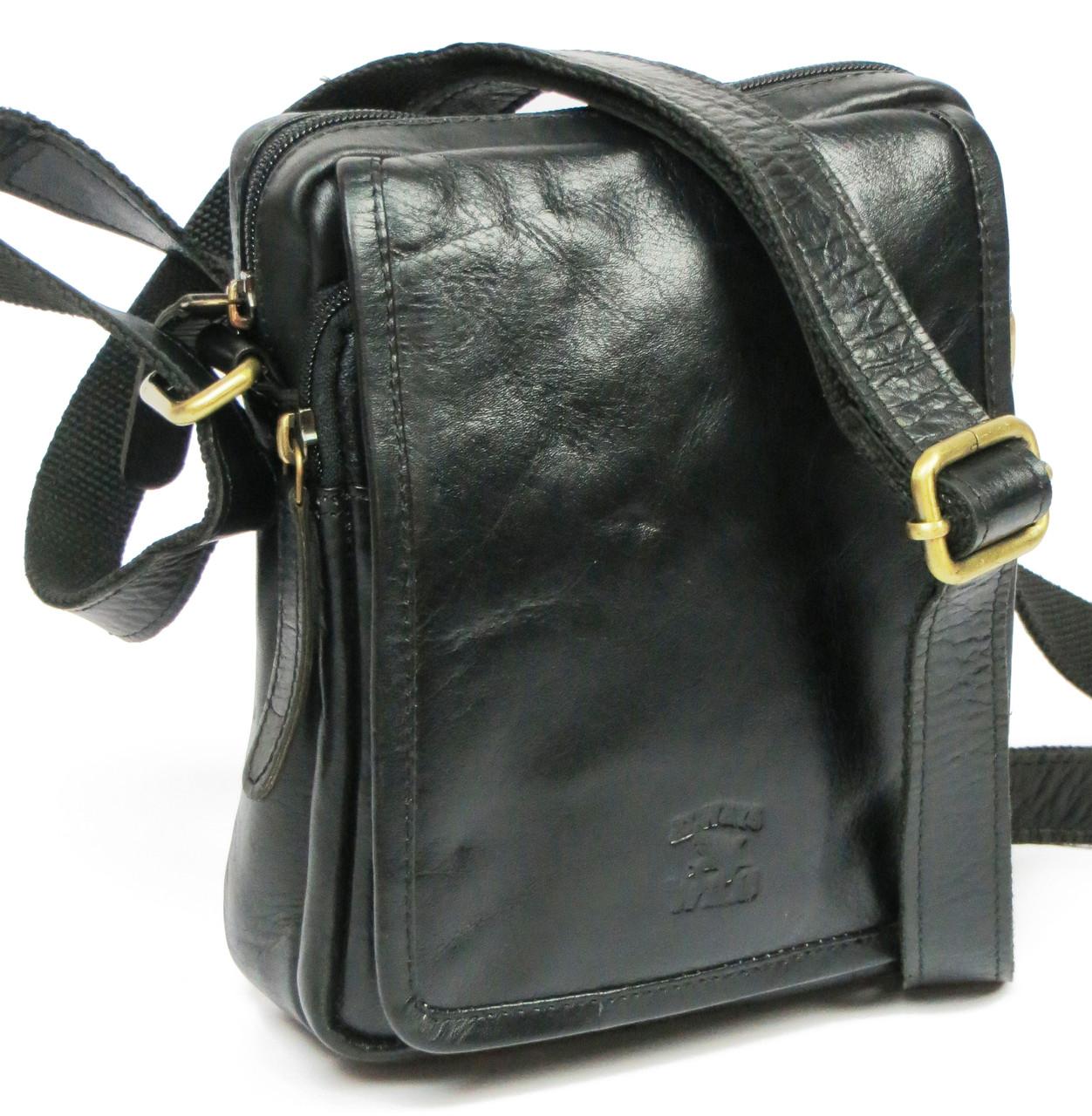 Мужская кожаная сумка-барсетка для документов  Always Wild 5031 black черный