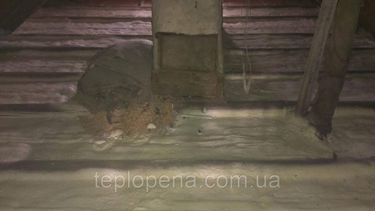Утепление чердачного перекрытия - Теплопена в Днепре