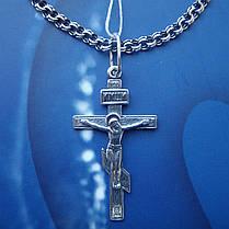 Серебряный крестик с распятием, 2,8 грамма, фото 2