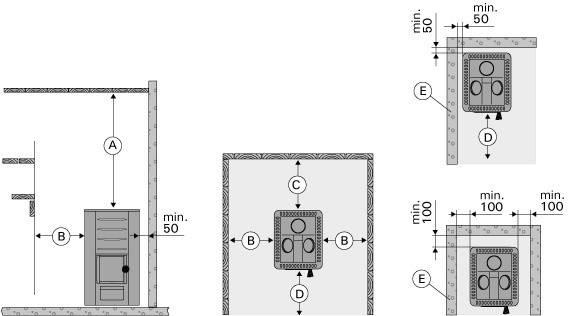 Дровяная печь для сауны (каменка) Harvia M3 SL ч/з стену, фото 2