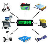6v/12v/24v/36v/48v/63 вольтметр Універсальний Цифровий LCD - індикатор батареї тестер ємності . Зелений, фото 4