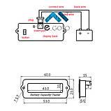 6v/12v/24v/36v/48v/63 вольтметр Універсальний Цифровий LCD - індикатор батареї тестер ємності . Зелений, фото 6