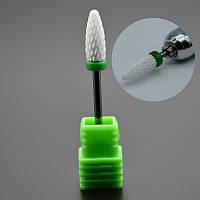 Фреза зеленая (насадка) керамическая для аппаратного маникюра и педикюра
