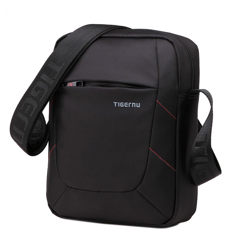 Чёрная мужская сумка месенджер Tigernu