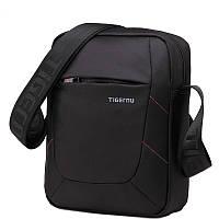 Чёрная мужская сумка месенджер Tigernu, фото 1