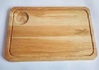 Доска прямоугольная с отделением для соусника 45х30 см HoReCa