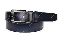 Синий мужской ремень в стиле Armani (П-044)