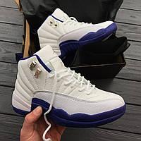 Женские кроссовки Nike Air Jordan 12 XII Retro White/blue. Живое фото! Топ качество (аир джордан, эир джордан)