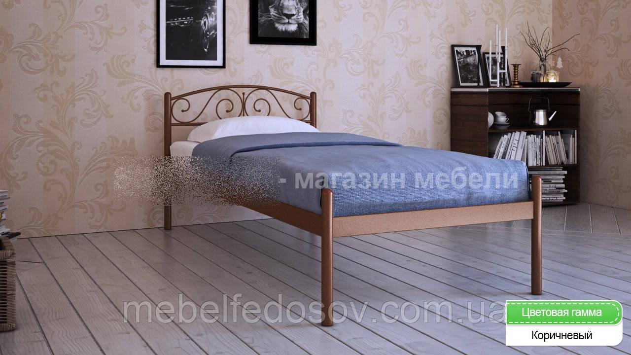 Кровать металлическая Верона - 1 / Verona - 1 односпальная 80 (Метакам) 860х2080х720 мм