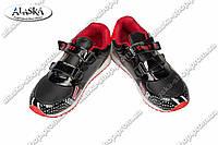 Детские кроссовки черно-красные (Код: WF 15-630)
