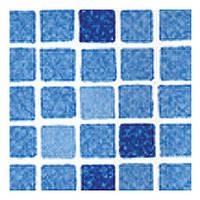 Пленка ПВХ для бассейна ELBEblue line SBG 160 Supra Мозаика синяя - шир.1,65 м