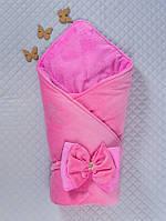 Красивый велюровый конверт для новорожденного