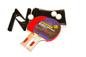 Набор для н/т Sprinter (2ракетки + 3 шарика + сетка со стойками в чехле)