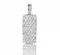 Серебряная родированная подвеска Дорожка в Фианитах серебро 925 пробы