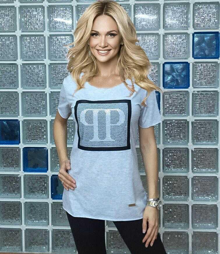"Женская футболка Турция ""PP"" серый"