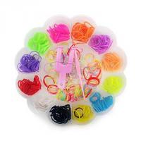 Резиночки для плетения Органайзер 500 шт Цветок