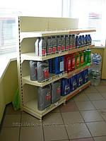 Пристенные торговые стеллажи Вико для магазинов при АЗС.
