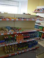 Островной торговый стеллаж Вико для магазинов при АЗС.