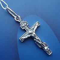 Серебряный крестик с распятием, 2,7 грамма