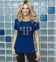 """Красивая футболка Турция """"PP"""" джинс"""