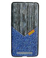 Чехол накладка для Xiaomi Redmi 3 PRO силиконовый REMAX Gentleman Series, Jeans