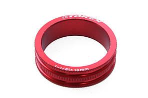 Проставочное кольцо для рулевой Token, красное, 10 мм
