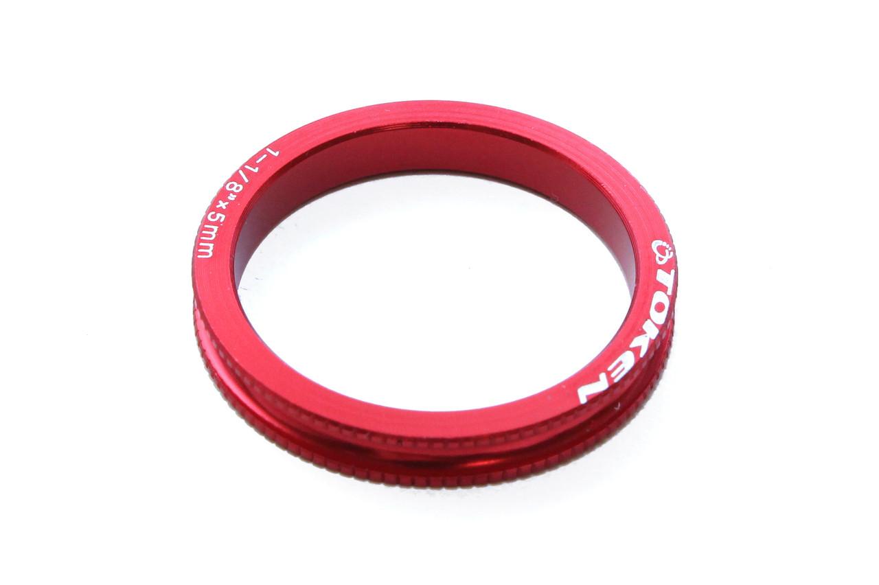 Проставочное кольцо для рулевой Token, красное, 5 мм