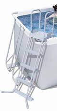 Каркасный бассейн BestWay 56456 (412х201х122 см.) ( Картриджный  фильтр-насос 2006 л/ч; лестница), фото 3