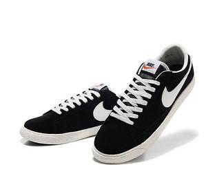 Кеды Nike Blazer Low Black Черные мужские 41 (26 см)
