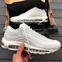 Мужские кроссовки Nike Air Max 97 all white. Живое фото. Топ качество! (Реплика ААА+)
