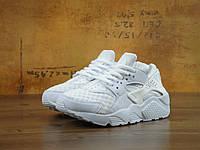 Кроссовки Nike Air Huarache белые с сеточкой. Живое фото. Топ качество! (Реплика ААА+)