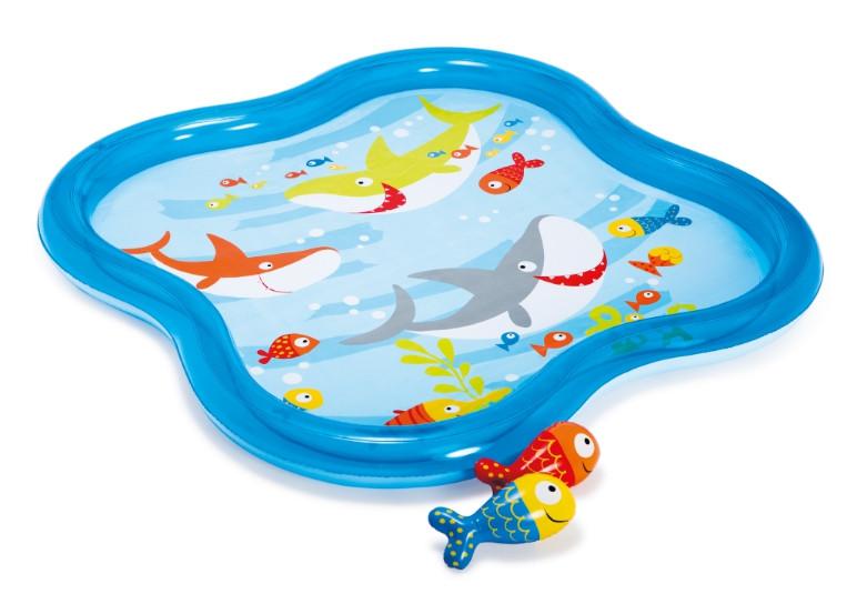 Детский бассейн с фонтанчиком 140*140*11 см 57126