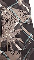 Шорты-капри мужские 83027 Пальмы темно-серые на размеры 46-48, фото 3