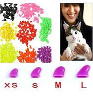 Антицарапки для кошек накладные силиконовые колпачки на лапки 20шт + клей в подарок